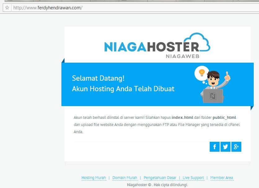 Contoh Domain yang Sudah Aktif