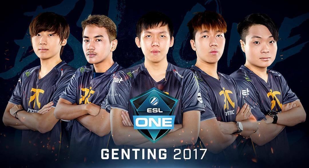 Roster Team Fnatic Dota 2 ESL One Genting 2017